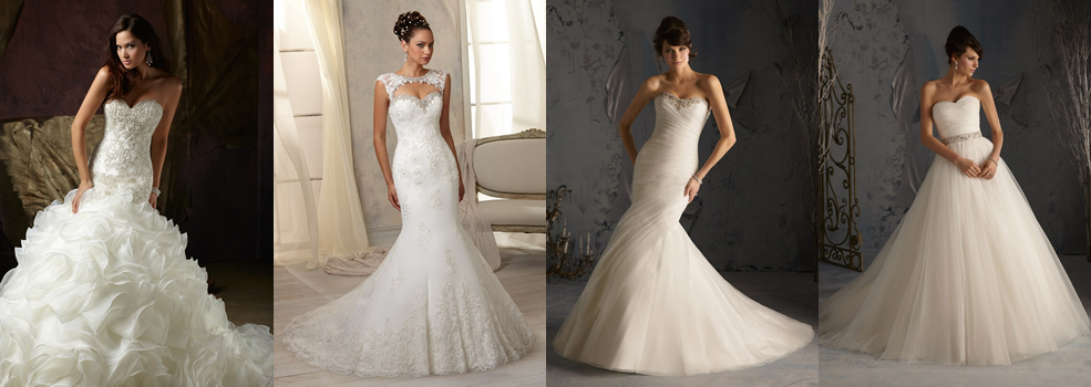 GORGEOUS WEDDING GOWNS IN ARRAY OF STYLES